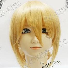 Blonde Umineko no Naku Koro ni  Jessica Ushiromiya Nylon Wavy Cosplay Wig