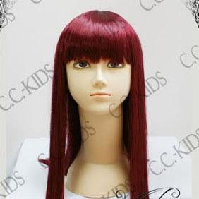 Red Umineko no Naku Koro ni  Ange Ushiromiya Long Nylon Straight Cosplay Wig