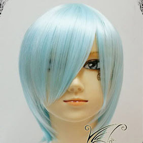 Blue Umineko no Naku Koro ni  Ushiromiya Kyrie Short Nylon Cosplay Wig