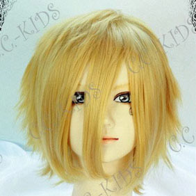 Blonde Kaichou wa Maid sama! Usui Takumi Short Nylon Cosplay Wig