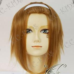 Brown K-ON! Tainaka Ritsu Mid-Long Nylon Cosplay Wig