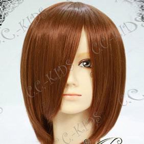 Brown  K-ON!  Hirasawa Yui Short Nylon Cosplay Wig