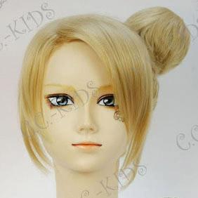 Blonde K-ON! Kotobuki Tsumugi EDver Mid-Long Nylon Cosplay Wig