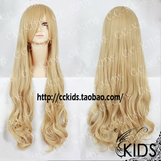 Blonde K-ON!  Kotobuki Tsumugi Long Nylon Wavy Cosplay Wig