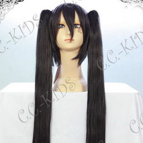 Black K-ON! Nakano Azusa Long Nylon Straight Cosplay Wig