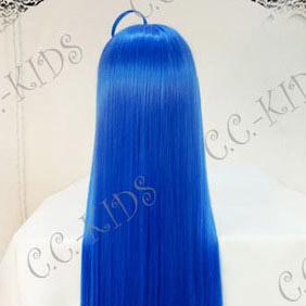 Blue Lucky Star  Konata Izumi Long Nylon Straight Cosplay Wig