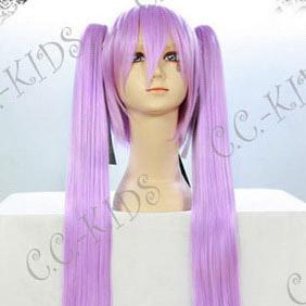 Purple Lucky Star Hiiragi Kagami  Long Nylon Straight Cosplay Wig