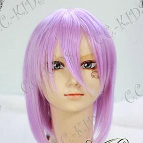 Purple  Lucky Star Hiiragi Tsukasa Short Nylon Cosplay Wig