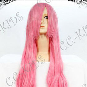 PinkLucky Star Takara Miyuki Long Nylon Wavy Cosplay Wig