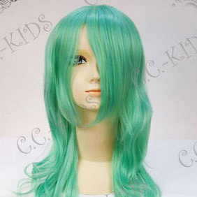 Green  Lucky Dog1 Bernardo Ortolani Long Nylon Cosplay Wig