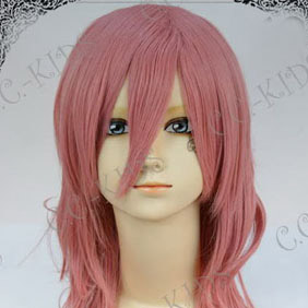 Pink Lucky Dog1 Luchino Gregoretti Long Nylon Wavy Cosplay Wig