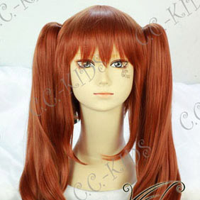 Orange  Haruhi Suzumiya  Mikuru Asahina Long Nylon Wavy Cosplay Wig