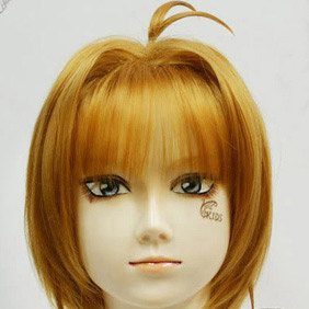 Blonde CARDCAPTOR SAKURA sakura  Short Nylon Cosplay Wig