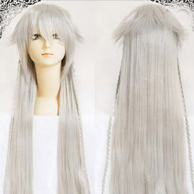 White Pandora Hearts Alice Silvery Long Nylon Straight Cosplay Wig