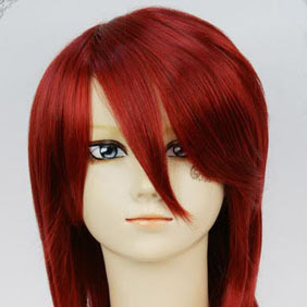 Red SOUL EATER  Death Scythe  Spirit Mid-Long Nylon Cosplay Wig