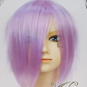 Purple  SOUL EATER  Chrona Short Nylon Cosplay Wig