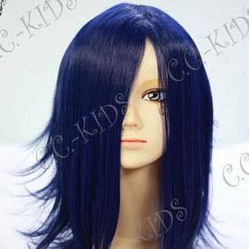 Blue Shiki  Yuuki Natsuno/Koide Natsuno Mid-Long Nylon Cosplay Wig