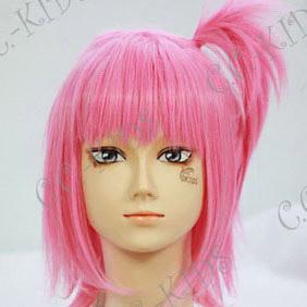 Pink  shugo chara!  Amu Hinamori Short Nylon Cosplay Wig