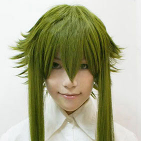 Green TALES OF THE ABYSS  Ion Long Nylon Cosplay Wig