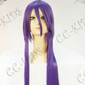 Vocaloid がくぽ神威 Gakupoid 紫 耐熱新素材 セミロング ストレート コスプレウィッグ