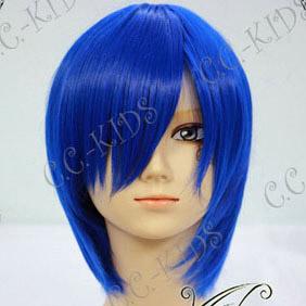 Vocaloid Kaito 耐熱新素材 ブルー  ショート ボブ コスプレウィッグ