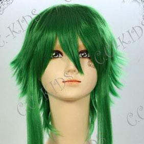 Vocaloid GUMI グミ メグッポイド Megpoid グリーン 耐熱新素材 ショート バンス ふんわりコスプレウィッグ