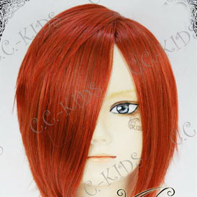Wine Red Vocaloid Kaito Akaito Short Nylon Cosplay Wig