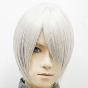 White  Vampire Knight   KIRYU ZERO  Short Nylon Cosplay Wig
