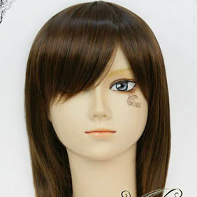 Brown Vampire Knight  Kurosu Yuuki  Mid-Long Nylon Cosplay Wig