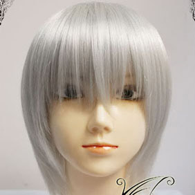 White Vampire Knight  Kiryuu Ichiru  Short Nylon Cosplay Wig