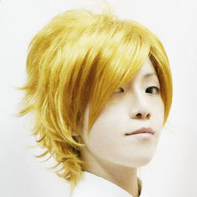 Blonde Vampire Knight  Aidou Hanabusa  Short Nylon Cosplay Wig