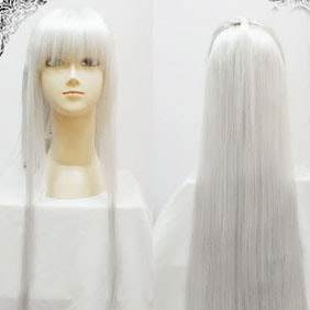 White Vampire Knight  Hiou Shizuka  Long Nylon Straight Cosplay Wig