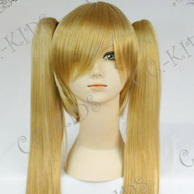 Blonde  NabariNoOu  Kiyomizu Raimei  Long Nylon Straight Cosplay Wig in braids