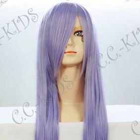 Purple  Gintama  Sarutobi Ayame  Long  Nylon Cosplay Wig