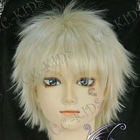 Light Blonde ZONE-00  Ango Shima  Short Nylon Cosplay Wig