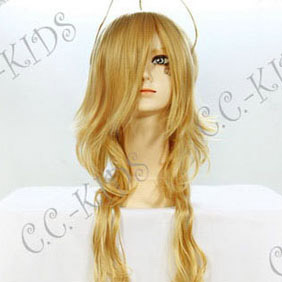 Blonde ZONE-00  Benten Long Nylon Wavy Cosplay Wig