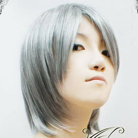 Silver Short Nylon Cosplay Wig