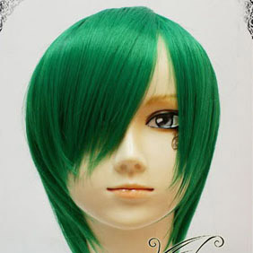 Green  Short Nylon Cosplay Wig