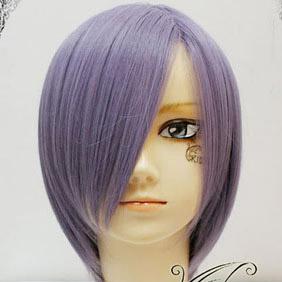 Purple  Short Nylon Cosplay Wig