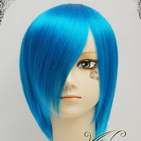Blue Short Nylon Cosplay Wig