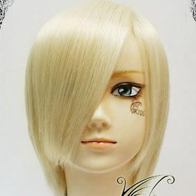 Light Yellow Short Nylon Cosplay Wig