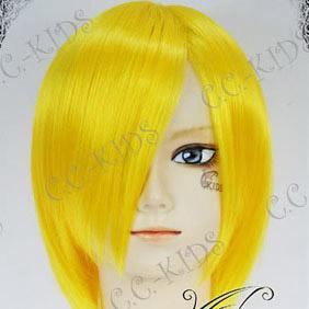 Yellow Short Nylon Cosplay Wig