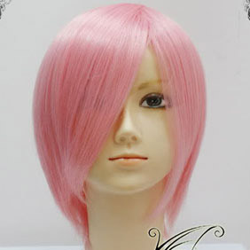 Pink Short Nylon Cosplay Wig