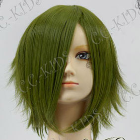 Green  Short Nylon Curly Cosplay Wig