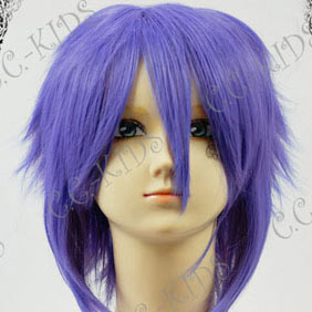 Purple Short Nylon Cosplay Wig
