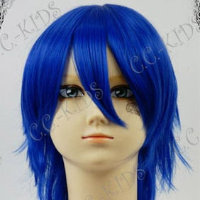 Dark Blue Short Nylon Cosplay Wig