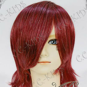 Wine Red Short Nylon Cosplay Wig