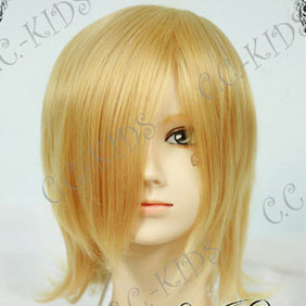 Golden Short Nylon Cosplay Wig