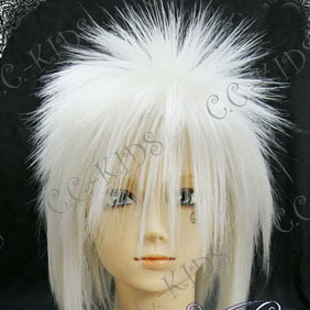 White  Short Nylon Cosplay Wig