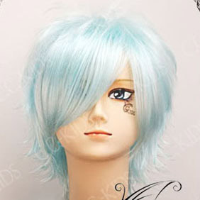 Light Blue Short Nylon Cosplay Wig
